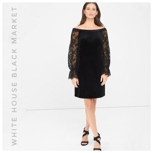 WHITE HOUSE BLACK MARKET NWT velvet lace shift